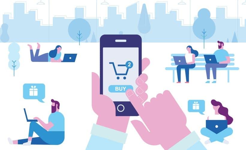 顧客籍由網路上的商店訂購物品後,依照消費者的需求來寄送貨物。從而達到足不出戶的狀態下,也可以買到各式各樣的產品。不但方便,更可以用最短的時間去不同的店買下心儀的產品。重點是可以不受距離限制,更可以24小時進行交易。