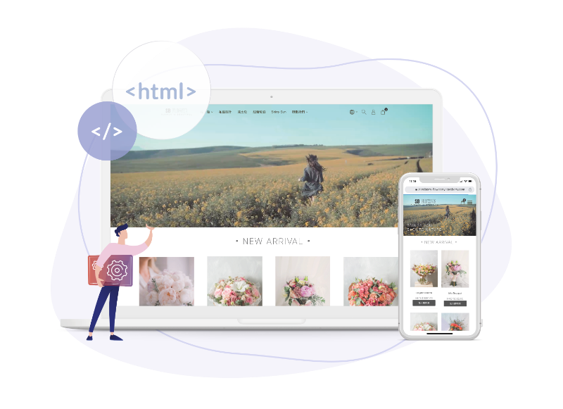 Easily create an online store without any design or coding skills