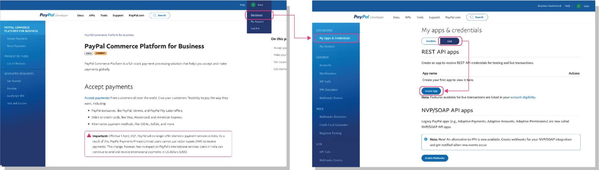 How to set up PayPal: